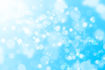 Blue bokeh light background beautiful bright blurred glitter effect. decoration for your design