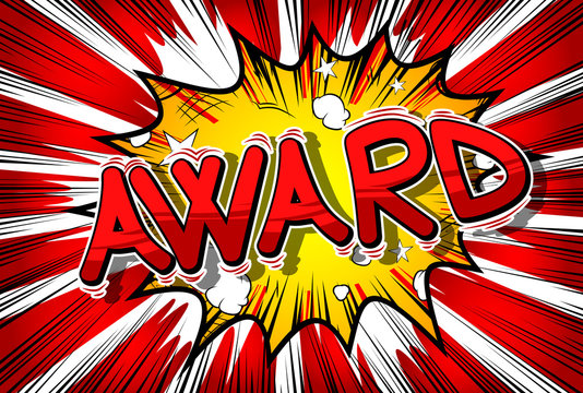 Award - Vector illustrated comic book style phrase.