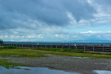 富山海岸 雨上がりの朝