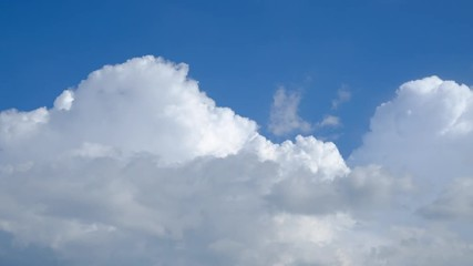 Wall Mural - Time-lapse scene of beautiful clouds on blue sky.