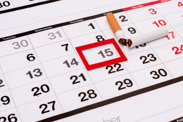 15 November, the day of refusal of Smoking. The calendar with the selected date.