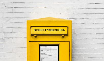 Schriftwechsel Briefkasten