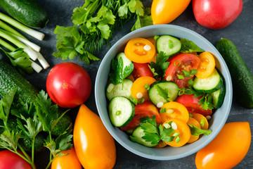 a fresh vegetable salad