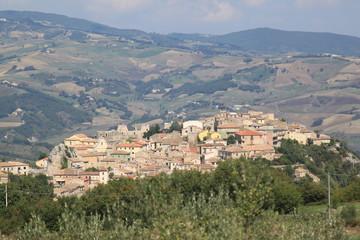 panorama paese Castropignano Campobasso Molise Italia