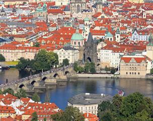 Prague the capital of Czech Republic with Charles bridge