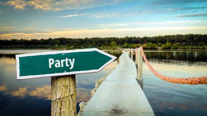 Schild 381 - Party