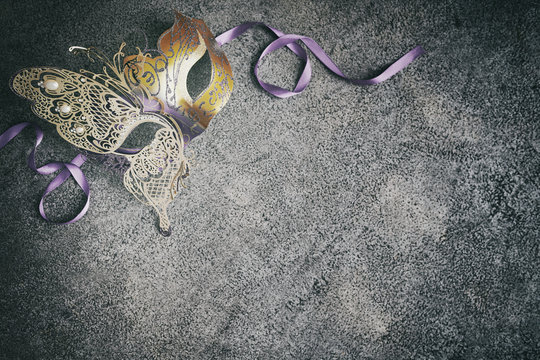 Mardi Gras or carnival mask background