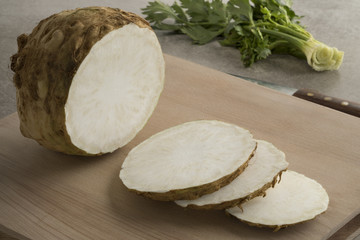 Fresh raw celery root