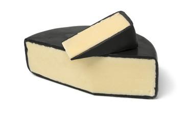 Piece of English waxed farmhouse cheddar cheese