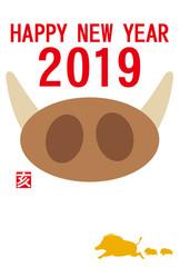 年賀状 2019 亥