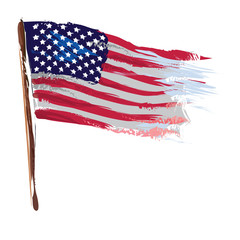 Artistic american flag as vector image