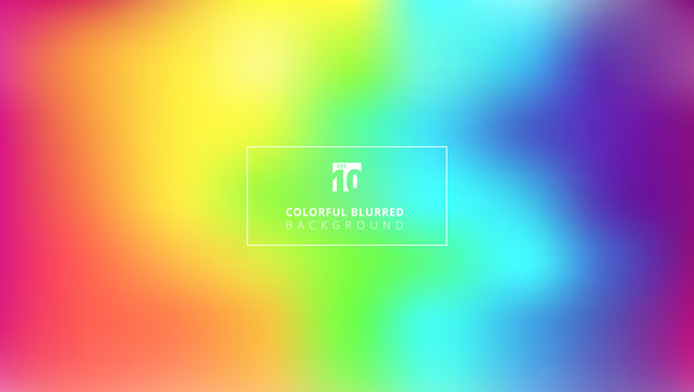 Abstract bright rainbow color smooth blurred gradient mesh background.