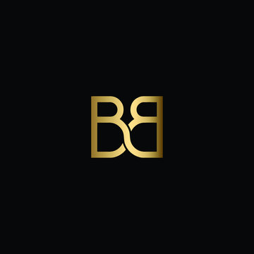 Minimal Solid Letter BB Logo Design Using Letter B In Vector Format