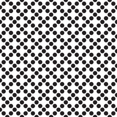 Seamless polka dot grid pattern. Dot texture background.