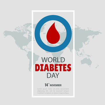 Vector Illustration on the theme World Diabetes Day.