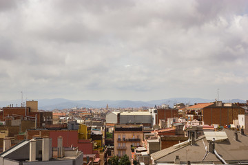 Roofs of Barcelona buildings