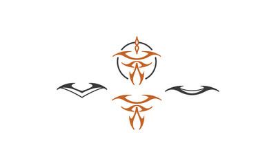 tribal tattoo logo icon vector