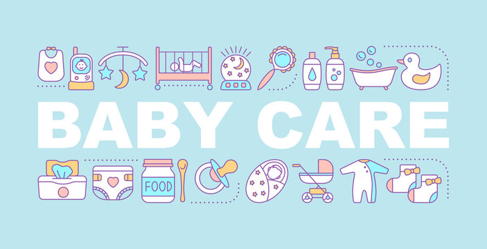 Baby care word concepts banner