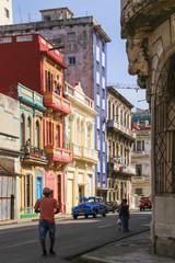 Havana, Oldtown, Streetlife, People, Old Car