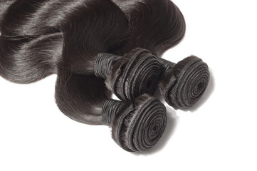 Body wavy black human hair weaves extensions bundels