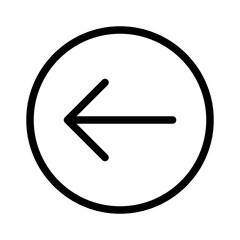Backarrow Arrow Undo Back Circle vector icon