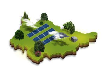 3D Landkarte | Photovoltaik
