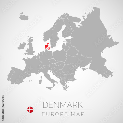 Map of European Union with the identication of Denmark. Map of ...