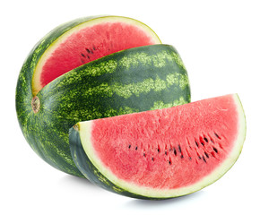 Slice of fresh ripe watermelon
