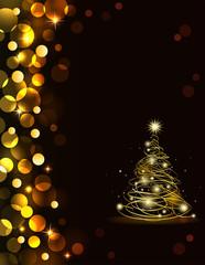 Holiday golden background