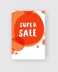 sale poster or flyer design. color background.