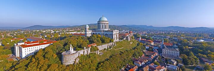 Aerial view of the Esztergom Basilica in Esztergom, Hungary Wall mural