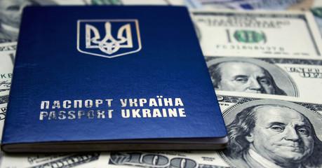 American Dollar and Ukrainian Passport