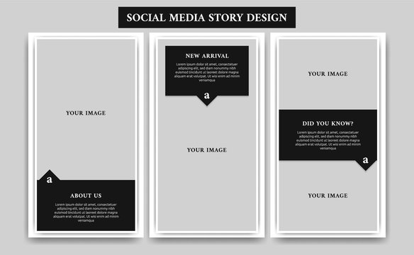 Elegant black mature male fashion or article blog social media story frame template