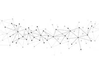 Abstract polygonal with connecting dots and lines. Vector network and connection concept. Wall mural