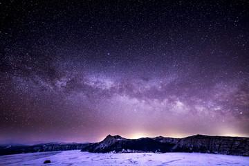 Milkyway over the Lake Mashu