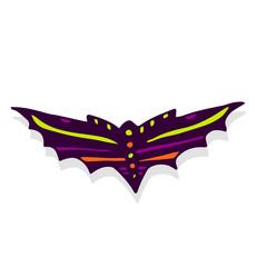 Halloween Bat icon. Hand drawn illustration. Sticker print design.