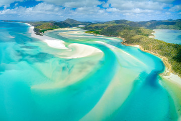 Hill Inlet at Whitehaven Beach on Whitesunday Island, Queensland, Australia Wall mural