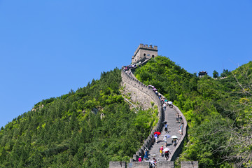 Photo sur Aluminium Muraille de Chine The famous Great Wall of China