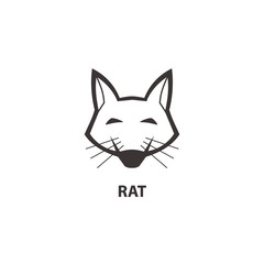 Rat head icon. Logo for your project. Vector illustration.