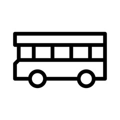 Bus 3 City Town Map Locations vector icon