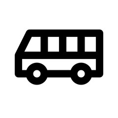 Bus City Town Map Locations vector icon