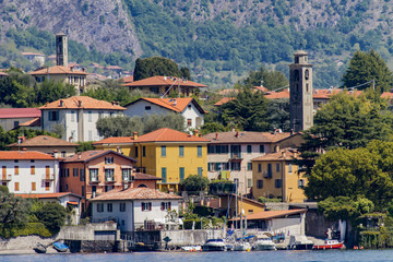 Town Isola Comacina on Lake Como in Italy
