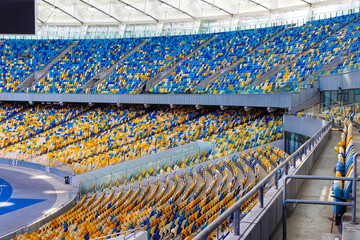empty seats in an outdoor football stadium overall plan