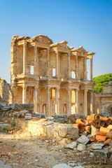 Ephesus, Turkey - Celsus Library a sunset