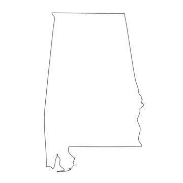 Alabama - map state of USA