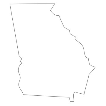 Georgia - map state of USA