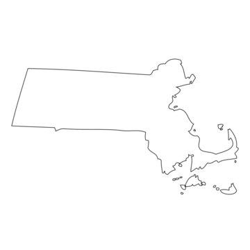 Massachusetts - map state of USA