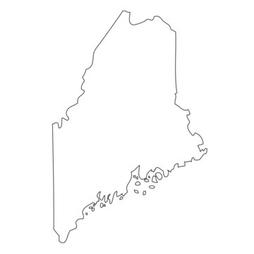 Maine - map state of USA