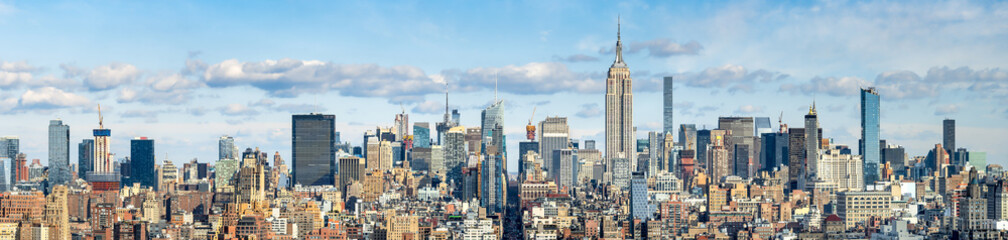 Autocollant pour porte Lieux connus d Amérique New York Skyline Panorama mit Empire State Building, USA