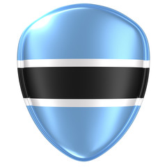3d rendering of a Botswana flag icon.